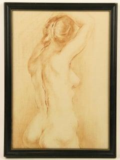 Female Figurative  Torso Nude Painting