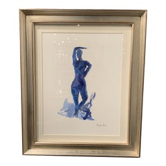 Figurative Navy Nude by Stephanie Wheeler