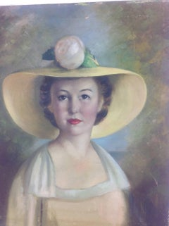 Figurative Southern Bell Female  Portrait Painting