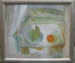 Post Impressionist/ Modernist Still Life with Landscape oil