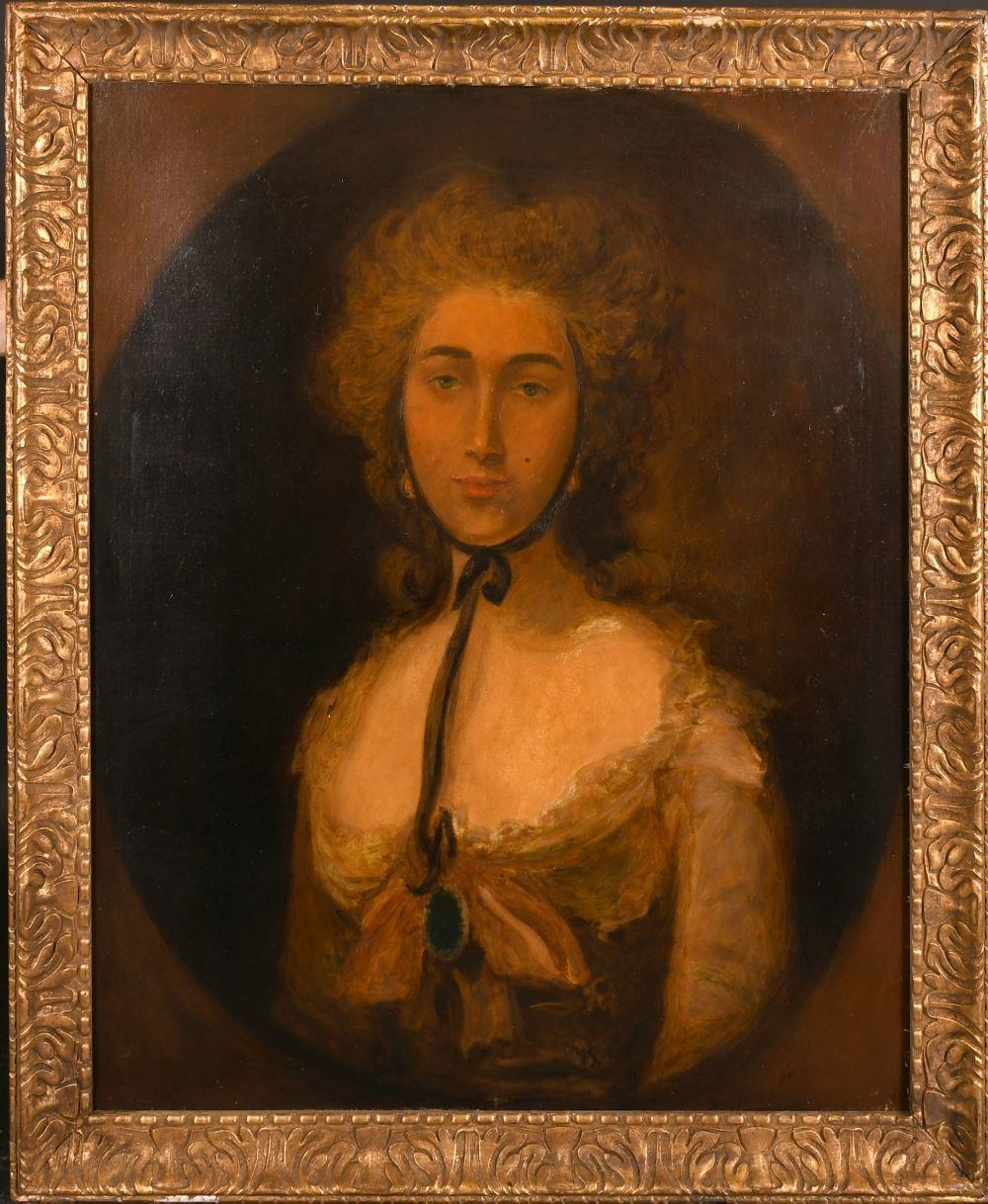 FINE EARLY 1800'S PORTRAIT OF A LADY - AFTER GAINSBOROUGH - LARGE OIL PAINTING