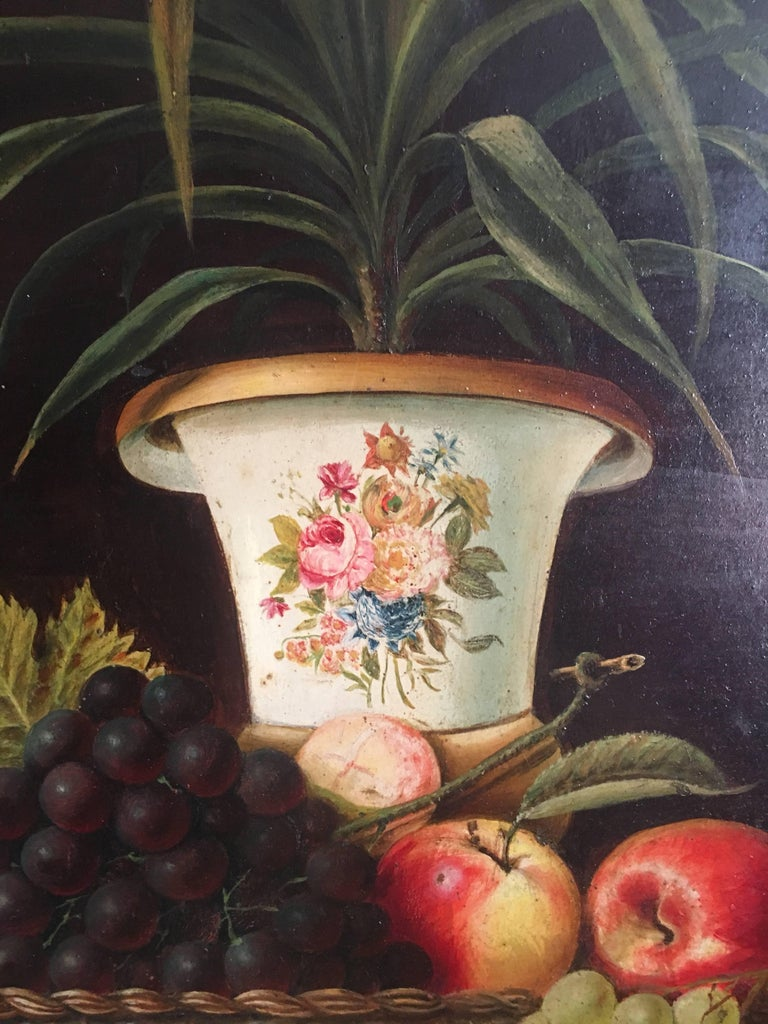 Fine Still Life Fruit Antique English Oil Painting  For Sale 5