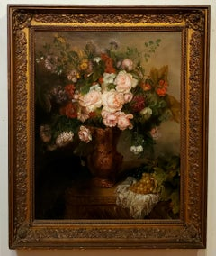 Flemish School Floral Still Life Painting in original Frame Circa 1815