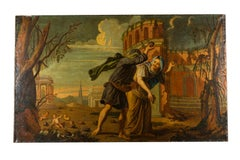 Flemish School of 18th Century The Myth of Deucalion and Pyrrha Oil on Canvas