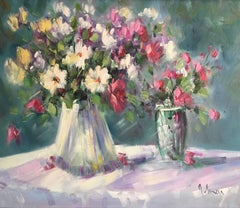 Floral Still Life, Oil Painting, Signed