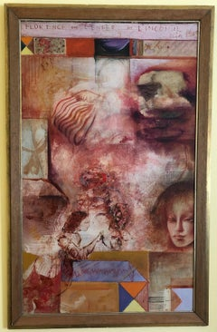 "Olja Ivanjicki ""Florence or Hell of l'Inconnue De La Seine"" Oil Painting c.1965"