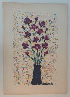 Flower Pot - Original Oil Paint - 1961