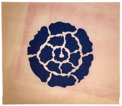 Flower - Vintage Tempera on Paper  - Early 20th Century
