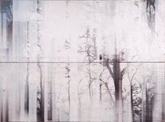 Foggy Winter Forest abstract