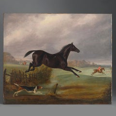 Follower of John Frederick Herring Senior – A 19th Century Hunting Scene