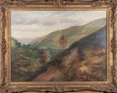 Framed 1902 Oil - The Green Valley