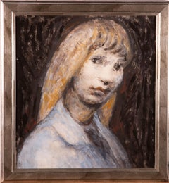 Framed 20th Century Acrylic - Blonde Haired Woman