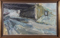 Framed Mid 20th Century Oil - Impressionistic Underpass