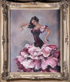 Framed Mid 20th Century Oil - The Flamenco Dancer