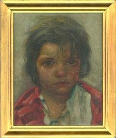 Framed Mid 20th Century Oil - Tired Eyes