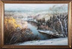 Framed Mid 20th Century Oil - Winter Landscape