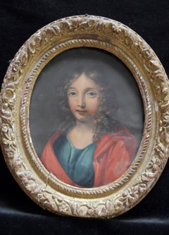 France 17th Century, Saint John the Evangelist, oil on copper