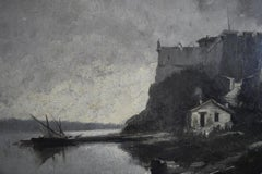 France 1874, The Fort of Sainte Marguerite (Cannes), Oil on panel,