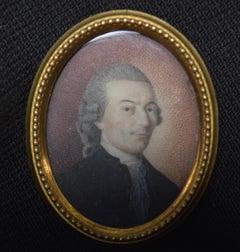 France 18th Century, Miniature Portrait of a Gentleman