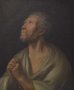 France 18th Century, The Penitent Saint Peter, oil on canvas