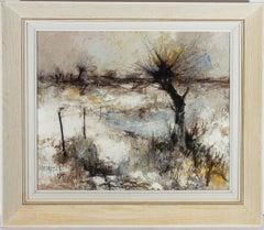 Francois Depresle (b.1927) - 1967 Oil, Snow in Normandy