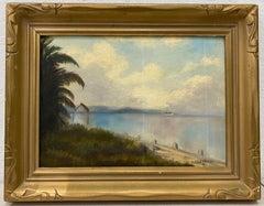 "Freda Schofield ""Biscayne Bay, Miami"" Original Painting C.1959"