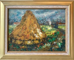 French Impressionist countryside landscape Hay - Van Gogh Peaceful