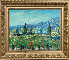 French Ecole de Paris Impressionist painting - Provence landscape - Countryside