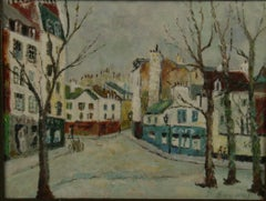 French Impressionist Landscape oil painting Streets of Paris 1940