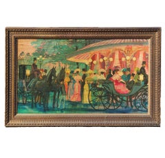 French Impressionist Style Festival Scene