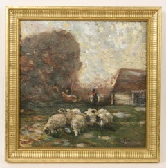 Impressionist French Pastoral Scene Painting