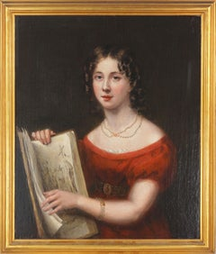 French Portrait of an early 19th Century Young Lady