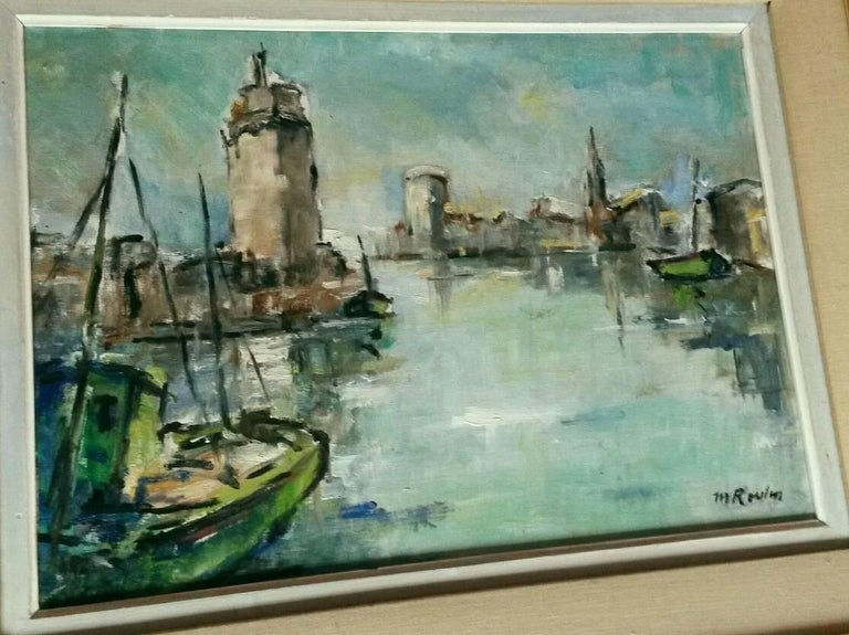 French Post Impressionist Marina  Painting by Rossini For Sale 5