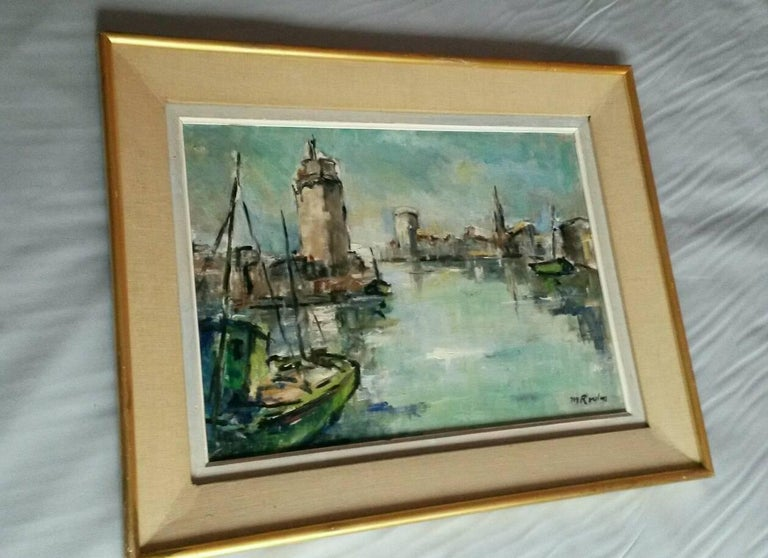 French Post Impressionist Marina  Painting by Rossini For Sale 6