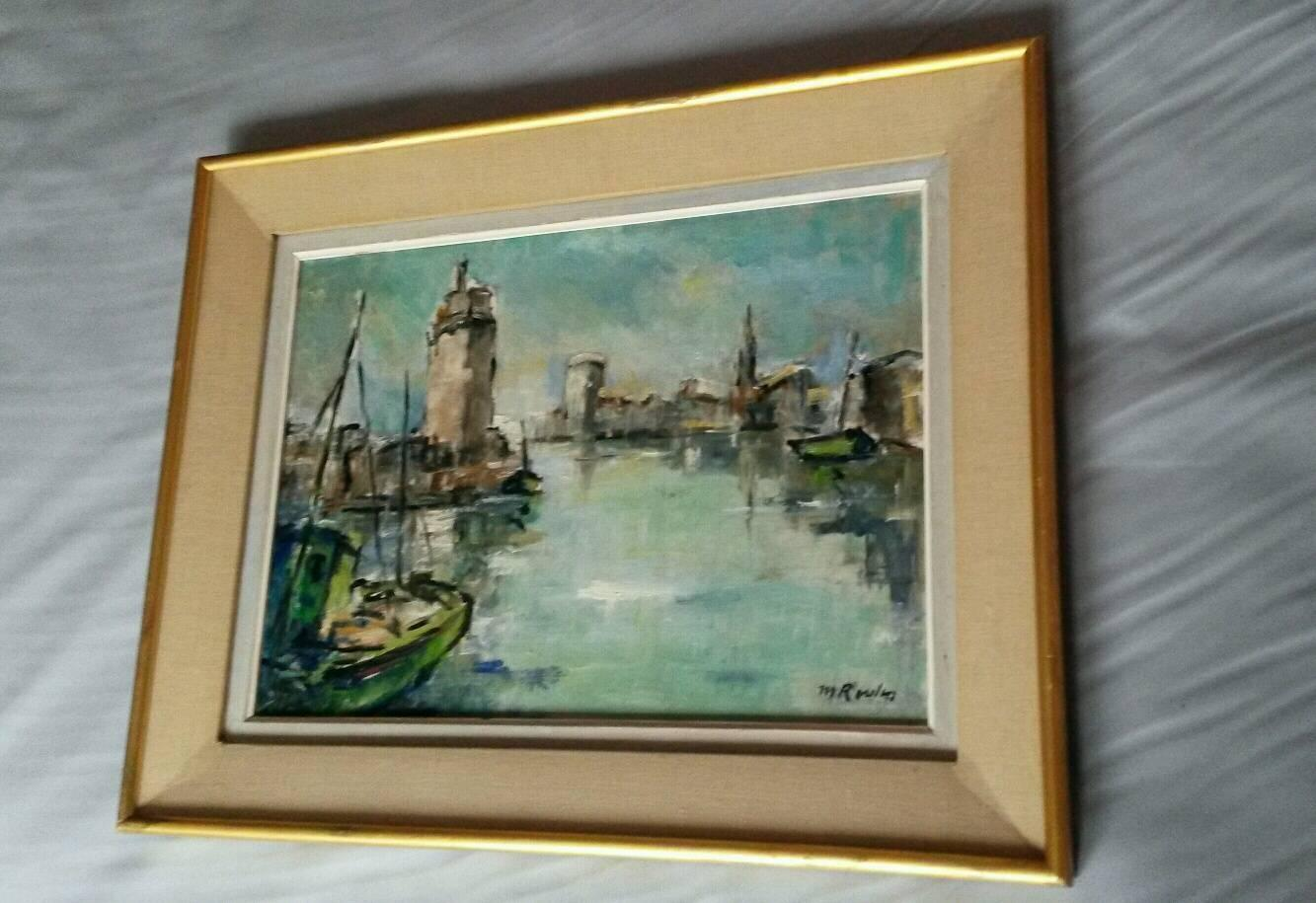 French Post Impressionist Marina  Painting by Rossini
