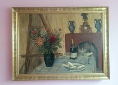 French Post Impressionist Still Life by G.Lesmele, Paris 1930's