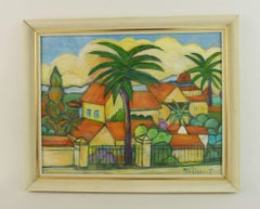 French Riviera Saint Tropez Landscape  Painting