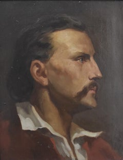 French Romantic school, Portrait of a man, oil on canvas