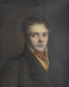 French Romantic School, Portrait of a Young Man, oil on canvas