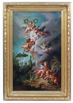 French School - Cupid's Target, from François Boucher (1758)