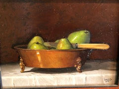 """G. Linister Smith Oil on Board """"Pears"""""""