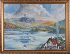 G. Swan Hodgson - 1962 Oil, Lake Scene with Cottage