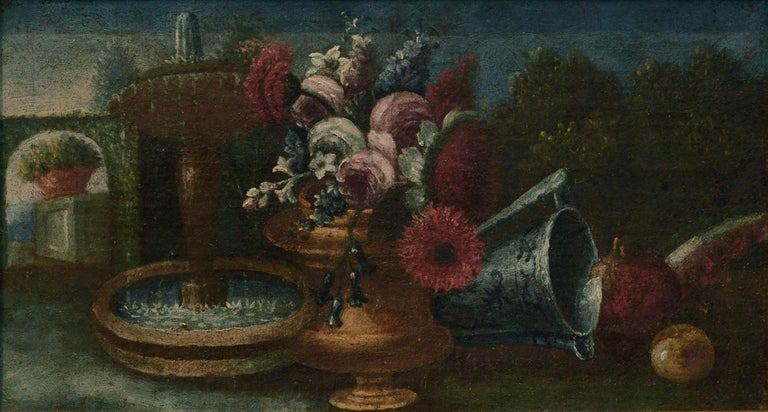 Early 20th Century Garden Still-Life  - Painting by Unknown