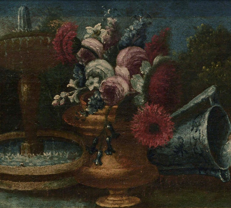 Early 20th Century Garden Still-Life  - American Impressionist Painting by Unknown
