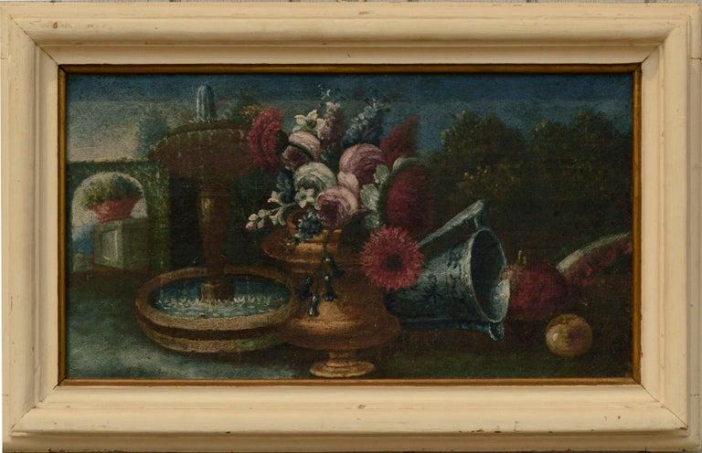 Unknown Still-Life Painting - Early 20th Century Garden Still-Life