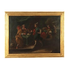 Genre Scene with Figures, Oil on Canvas, 18th Century