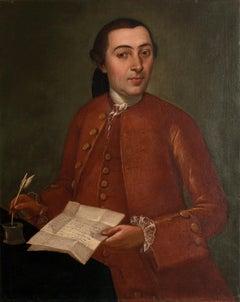 Gentleman portrait - Oil on Canvas by Scuola Marchigiana - 18th Century