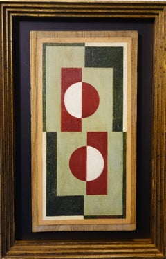 """""""Geometric composition"""" Russian Vanguard, Suprematism,  Signed  MANSUROV on wood"""
