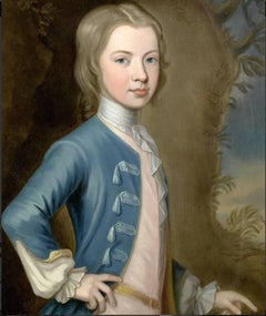 George Knapton. 18th century Portrait of John Egerton, Viscount Brackley