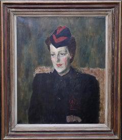 Gillian Kluane Tanner - George Medal WWII art Fire Service portrait oil painting